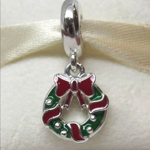 Pandora Jewelry - 796362enmx Retired Pandora Christmas Wreath Charm